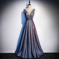 2018 Wholesale Cheap Beaded Sleeveless Prom Dress A Line Elegant Women Evening Dress