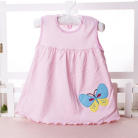 Factory direct childrens skirt cotton girls dress sleeveless princess dress baby vest skirt