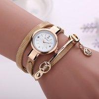 2019 Hot Women Bracelet Watches Leather Diamond Pendant Luxury Quartz Women Dress Wrap watch montre WW032