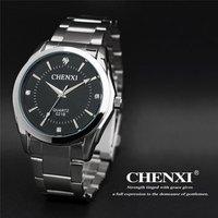 CHENXI 021B High Quality Stainless Steel Hand Watch Lover Waterproof Luminous Hands Couple Analog Import Quartz Wrist Watches