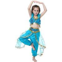 Aladin Girl jasmine princess costume dress halloween cosplay kids suit