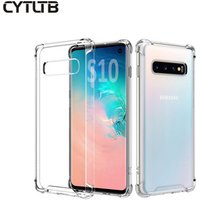 2019 Crystal Clear For Samsung S10 Mobile Phone Case Scratch Proof Transparent Cover For Samsung Galaxy S10 S10E Plus  Case