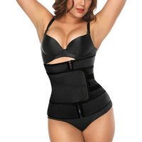 Womens Waist Trainer Corset Vest Slimming Body Shaper Cincher with Zipper and Adjustable Straps for Weight Loss