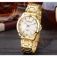 CHENXI 050A Casual Couple Quartz Watch Price Guangzhou Watch Market Stainless Steel Golden Japan Movt Diamond Quartz Wrist Watch