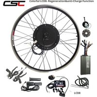 Regenerative 48V 1000W eBIKE Electric Bicycle Motor Engine bike Conversion Kit Front Rear Wheel Motor color LCD 8 with USB port