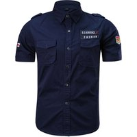 Custom Summer Workwear Pilot Shirt Uniform, Slim Fit Dress Shirt Army, Short Sleeves Casual Shirt Men