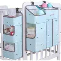 Newest Organizer Baby Crib Bed Hanging Storage Bag Put Newborn Diaper Toys For Baby with zipper
