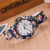 Fashion design Ladies flower wristwatch women dress watch high quality ceramic sweet girls Bracelet watch