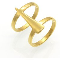 Stainless Steel Wholesale Jewelry Los Angeles California Gold Wedding Ring For Girls Geometric Rings Accessories Women
