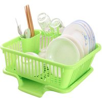 Kitchen Plastic Storage Sink Dish Drying Rack/kitchenware drainer plastic dish drying rack