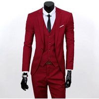 Latest Man Office Slim Fit Single Button Casual Pocket Men Jacket Fashion Stand Collar Elegant Mens Fitted Suits Formal Blazer
