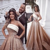 Plus Size Evening Dresses Sweetheart Arabic Luxurious Prom Dresses Party Gowns