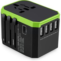 2019 Best Seller Universal USB Travel Power Adapter All in One Wall Charger Worldwide Plug Socket Adaptor USA EU UK US Gift
