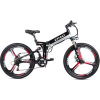 26 Inch 48V 250W 350W Electric Mountain Bike With Integrated Wheel 10.4AH Hidden Battery E-bicycle