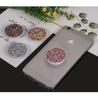 Factory Direct Sales Fashion Customized Smart Glitter Gradient Airbag Mobile Phone socket grip for cell phone XS MAX