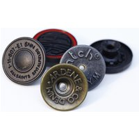Custom Made Brand Name Logo Jeans Metal Button And Rivet For Denim Jacket Shirts Coat And Shoes