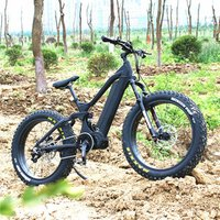 Chinese factory 48v 1000 w electric fat bike 48V1000w full suspension frame bafang motor kit Compatible products
