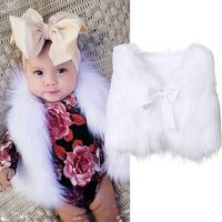 Kids Boutique Clothing Wholesale Baby Girl Fur Vest Girls Fall  Waistcoat