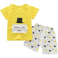 Papa Care Infant Baby Clothes Sets Summer Cotton Short Sleeve T Shirts and Shorts Kids Outfits Sets Boy And Girl Clothing Set