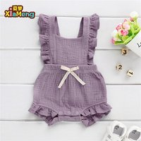 Toddler clothing summer baby cotton jumpsuit rompers baby girl playsuit