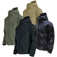 Mens Army Fans Military Tactical Jacket Camouflage Waterproof Combat Jacket Hoody Softshell Coat Army Uniform