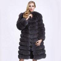 Ladies Winter Coats Fashion Clothing For Women 2018 Long Jacket Faux Fox Fur Coat