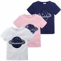 Childrens clothing shirts boys short-sleeved sequins  cotton Korean shirt summer T-shirt for  2-7 years old baby