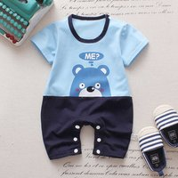 2018 Hot sale summer baby clothes short sleeve toddler clothing baby romper OEM