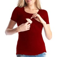 Breastfeeding Clothes Clothing T Shirt Short Sleeve Fashion Maternity Nursing Tops Breastfeeding Nursing Blouses casual