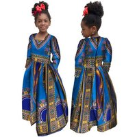 BRW Baby Girls Clothing Brand Dress Style Dashiki African Print Party Sleeveless Clothing For Girls Vintage Clothes WYT61