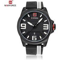 NEW Model NAVIFORCE 9098 Calendar Wrist Watch For Boy Silicone Quartz Waterproof Mens Casual Simple Watch orologio da ragazzo