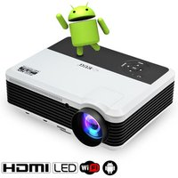 2018 Hot sale 3900 lumens Full HD Android wifi wireless LCD LED video projector, support 720P 1080P