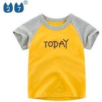 Wholesale High Quality Kids T Shirts 100% Cotton Short Sleeve Litter Children Boys T Shirt