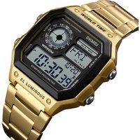 skmei mens digital watch instructions manual, waterproof compass pedometer multifunction wristwatch