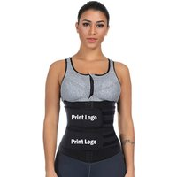 Custom Private Label Double Belt Shaper Slim Belt Tummy Control Underbust Corset Waist Trainer