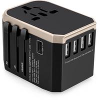 2019 Travel Power Adapter Plug Socket Universal Wall Charger 4 USB Type-C Worldwide  US AUS UK EU Adaptor