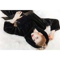Winter high quality Women Real Natural mink fur coat with good price