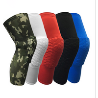 'Long Sleeves Protective Volleyball Knee Pads Thick Sponge Anti-collision Knee Pads Protector Non-slip Wrestling Dance Knee Pads