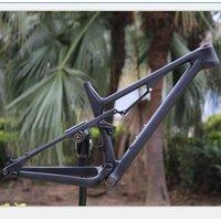 2019 superlight full suspension carbon mountain bike frame with bottom bracket