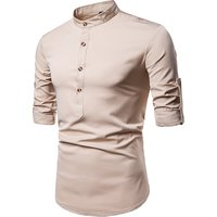 2018 new design long sleeve slim fit men dress shirt with best quality