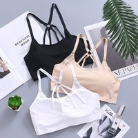 Parachute beauty back design wrap chest  bras high elastic breathable bottoming women tube top