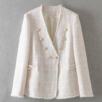 Ladies fashion tweed jacket on 2019 autumn