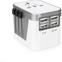 International travel adapter EU AUS UK US plug 4 usb charger smart wall socket universal adaptor multi usb charger