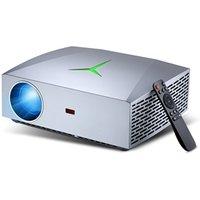 Portable 1080P HD LED Video Projector F40 5000lumens Home Cinema 3D Multimedia smartphone projectors not mini lcd Projector