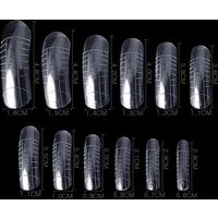 Full Cover Dual Nail Form With Liner French False Nail Tips Poly Gel UV Acrylic Nail Decoration Nail Art Tool Mold