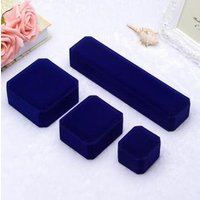 MN016 High Grade Velvet Jewelry Set Box Earrings Bracelet Ring Necklace Gift Boxes Cases Display Red Package Wedding Jewelry Box