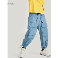 New design wholesale mens trousers multi pockets windbreaker material 6 pocket cargo men pants