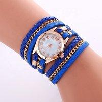 Factory Sell Fashion Ladies Bracelet Watch Luxury Metal Bohemia Style Numbers Women dress Wrap Watches WW029