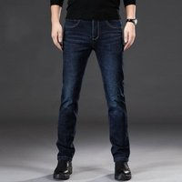 Mens Jeans Fashion Casual Male Denim Pants Skinny Trousers Classic Straight Jeans Homme Y11037