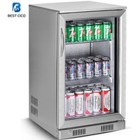 108L Beer Chiller Countertop Drink Top Open Glass Door Food Cold Table Showcase Cooler